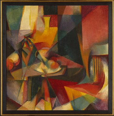 Stanton Macdonald-Wright (American, 1890-1973). <em>Synchromy No. 3</em>, 1917. Oil on canvas, 39 x 38 in. (99.1 x 96.5 cm). Brooklyn Museum, Bequest of Edith and Milton Lowenthal, 1992.11.24 (Photo: Brooklyn Museum, 1992.11.24_SL1.jpg)