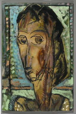 Alfred Henry Maurer (American, 1868-1932). <em>Head of a Girl</em>, 1929. Oil on fabricated board, 29 13/16 x 19 13/16 in. (75.7 x 50.3 cm). Brooklyn Museum, Bequest of Edith and Milton Lowenthal, 1992.11.27. © artist or artist's estate (Photo: Brooklyn Museum, 1992.11.27_PS2.jpg)