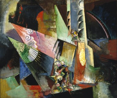 Max Weber (American, born Russia, 1881-1961). <em>Russian Ballet</em>, 1916. Oil on canvas, 30 x 36in. (76.2 x 91.4cm). Brooklyn Museum, Bequest of Edith and Milton Lowenthal, 1992.11.29 (Photo: Brooklyn Museum, 1992.11.29_SL1.jpg)
