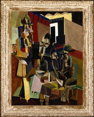 Max Weber (American, born Russia, 1881-1961). <em>The Visit</em>, 1919. Oil on canvas, 40 x 30 in. (101.6 x 76.2 cm). Brooklyn Museum, Bequest of Edith and Milton Lowenthal, 1992.11.30 (Photo: Brooklyn Museum, 1992.11.30_SL1.jpg)