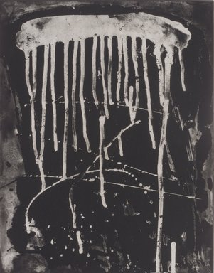 Pat Steir (American, born 1940). <em>Little Drip</em>, 1991. Rosin reversal, sugarlift and spit bite aquatint etching on paper, sheet: 24 5/8 x 19 1/8 in. (62.5 x 48.6 cm). Brooklyn Museum, Gift of the Community Committee of the Brooklyn Museum, 1992.116.3. © artist or artist's estate (Photo: Brooklyn Museum, 1992.116.3.jpg)