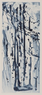 Pat Steir (American, born 1940). <em>Narrow Waterfall</em>, 1991. Soapground, sugarlift and spit bite aquatint on paper, sheet: 24 5/8 x 19 in. (62.5 x 48.3 cm). Brooklyn Museum, Gift of the Community Committee of the Brooklyn Museum, 1992.116.5. © artist or artist's estate (Photo: Brooklyn Museum, 1992.116.5_PS11.jpg)