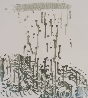 Pat Steir (American, born 1940). <em>Raindrops</em>, 1991. Soapground, sugarlift and spit bite aquatint on paper, sheet: 24 1/2 x 19 1/4 in. (62.2 x 48.9 cm). Brooklyn Museum, Gift of the Community Committee of the Brooklyn Museum, 1992.116.8. © artist or artist's estate (Photo: Brooklyn Museum, 1992.116.8.jpg)