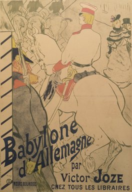 Henri de Toulouse-Lautrec (French, 1864-1901). <em>Babylone d'Allemagne (Poster)</em>, 1894. Lithograph, 51 1/8 x 37 3/8 in. (129.9 x 94.9 cm). Brooklyn Museum, Bequest of William K. Jacobs, Jr., 1992.119 (Photo: Brooklyn Museum, 1992.119.jpg)