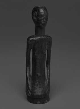 Possibly Nyamwezi. <em>Female Torso</em>, 20th century. Wood, 6 x 1 3/4 x 1 3/4 in. (15.2 x 4.4 x 4.4 cm). Brooklyn Museum, Gift of Drs. Noble and Jean Endicott, 1992.136.19. Creative Commons-BY (Photo: Brooklyn Museum, 1992.136.19_bw.jpg)