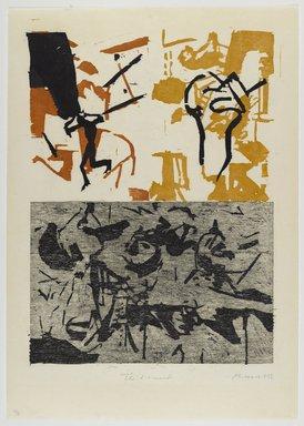 Paul Russotto (American, 1944-2014). <em>The Damned</em>, 1992. Woodcut on paper, sheet: 25 3/4 x 18 1/8 in. (65.4 x 46 cm). Brooklyn Museum, Gift of Walter W. Sawyer, 1992.185.14. © artist or artist's estate (Photo: Brooklyn Museum, 1992.185.14_PS4.jpg)
