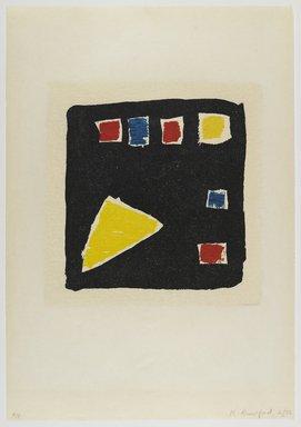 Katherine Bradford (American, born 1942). <em>Untitled</em>, 1992. Woodcut on paper, sheet: 25 3/4 x 18 in. (65.4 x 45.7 cm). Brooklyn Museum, Gift of Walter W. Sawyer, 1992.185.1. © artist or artist's estate (Photo: Brooklyn Museum, 1992.185.1_PS4.jpg)