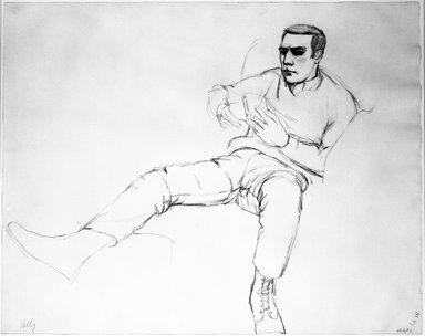Ellsworth Kelly (American, 1923-2015). <em>Henry Persche</em>, 1967. Graphite on paper, 23 x 29 in. (58.4 x 73.7 cm). Brooklyn Museum, Gift of Henry Persche, 1992.190. © artist or artist's estate (Photo: Brooklyn Museum, 1992.190_bw.jpg)