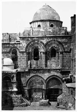 Francis Frith (British, 1822-1898). <em>Entrance, Church of the Holy Sepulchre, Jerusalem</em>, ca. 1875-1880. Gelatin silver photograph Brooklyn Museum, Allan D. Rubenstein Memorial Collection, 1992.194.8 (Photo: Brooklyn Museum, 1992.194.8_bw.jpg)