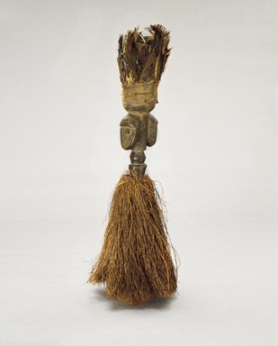 Loma. <em>Janus-faced Staff</em>, early 20th century. Wood, feathers, palm fiber, 30 1/2 x 13 in. (77.5 x 33 cm). Brooklyn Museum, Gift of Blake Robinson, 1992.196.2. Creative Commons-BY (Photo: Brooklyn Museum, 1992.196.2_view1_SL3.jpg)