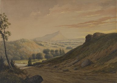 David Claypool Johnston (American, 1799-1865). <em>New England Scenery</em>, ca. 1850. Transparent and opaque watercolor with local glazes on light beige, moderately thick, lightly textured wove paper, 9 1/4 x 13 1/16 in. (23.5 x 33.2 cm). Brooklyn Museum, Purchased with funds given by Mr. and Mrs. Leonard L. Milberg, 1992.213 (Photo: Brooklyn Museum, 1992.213_PS2.jpg)