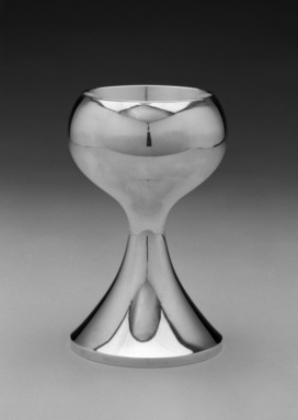 Michael Lacktman (American, born 1938). <em>Chalice</em>, ca.1965. Silver and gilt, height: 6 15/16 in. (17.6 cm); diameter: 4 1/4 in. (10.8 cm). Brooklyn Museum, Gift of Daniel Morris and Denis Gallion, 1992.243. Creative Commons-BY (Photo: Brooklyn Museum, 1992.243_bw.jpg)