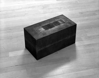 Frank Gerritz (German, born 1964). <em>Block Formation III</em>, 1992. Cast iron, 8 x 8 x 16 in. (20.3 x 20.3 x 40.6 cm). Brooklyn Museum, Purchase gift of an anonymous donor, bequest of Laura L. Barnes, by exchange, and Frank L. Babbott Fund, 1992.251. © artist or artist's estate (Photo: Brooklyn Museum, 1992.251_view1_bw.jpg)