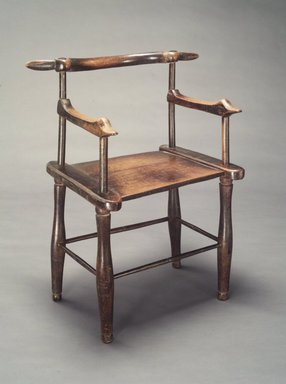 Manding artist. <em>Chair</em>, early 20th century. Wood, metal, 31 x 19 3/4 x 17 in. (78.7 x 50.2 x 43.2 cm). Brooklyn Museum, Gift of Blake Robinson, 1992.26.8. Creative Commons-BY (Photo: Brooklyn Museum, 1992.26.8_transpc001.jpg)