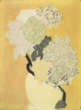 March Avery (American, born 1932). <em>Vase with Blossoms</em>. Oil on canvas, 22 1/2 x 18 in. (57.2 x 45.7 cm). Brooklyn Museum, Bequest of Ivor Green and Augusta Green, 1992.271.4. © artist or artist's estate (Photo: Brooklyn Museum, 1992.271.4_transpc003.jpg)