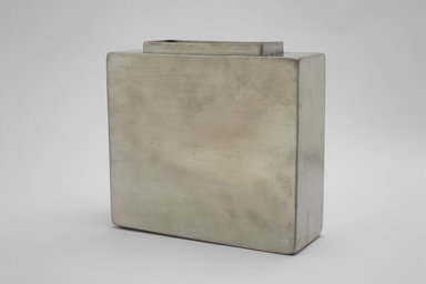 Marion Anderson Noyes (American, 1907-2002). <em>Pillow Vase</em>, 20th century. Pewter, 6 1/4 x 6 7/8 x 2 3/8 in. (15.9 x 17.5 x 6 cm). Brooklyn Museum, Gift of Marion Anderson Noyes, 1992.40.2. Creative Commons-BY (Photo: Brooklyn Museum, 1992.40.2.jpg)
