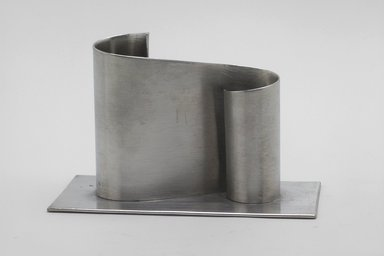 Marion Anderson Noyes (American, 1907-2002). <em>Candlestand</em>, 20th century. Pewter, 3 1/4 x 4 5/8 x 2 5/16 in. (8.3 x 11.7 x 5.9 cm). Brooklyn Museum, Gift of Marion Anderson Noyes, 1992.40.4. Creative Commons-BY (Photo: Brooklyn Museum, 1992.40.4.jpg)