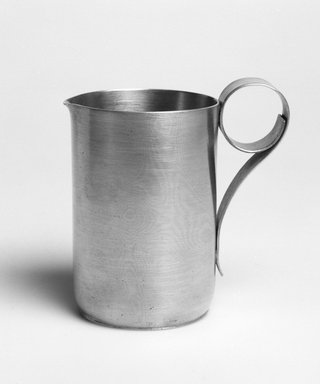 Marion Anderson Noyes (American, 1907-2002). <em>Creamer</em>, 20th century. Pewter, 3 3/4 x 3 3/4 x 2 1/4 in. (9.5 x 9.5 x 5.7 cm). Brooklyn Museum, Gift of Marion Anderson Noyes, 1992.40.8. Creative Commons-BY (Photo: Brooklyn Museum, 1992.40.8_bw.jpg)