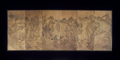 Song-Kwang Kim. <em>The Nine-Bend Streams of Wuyi</em>, 19th century. Ink and light color on paper, Overall: 24 x 61 1/4 in. (61 x 155.6 cm). Brooklyn Museum, Gift of Stanley J. Love, 1992.77.1 (Photo: Brooklyn Museum, 1992.77.1.jpg)