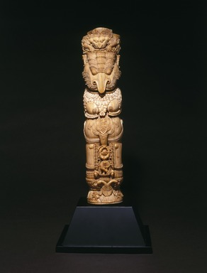 <em>Throne Leg</em>, 17th century. Ivory with traces of polychrome, 15 1/2 x 4 1/8 in. (39.4 x 10.5 cm). Brooklyn Museum, Gift of the Asian Art Council 