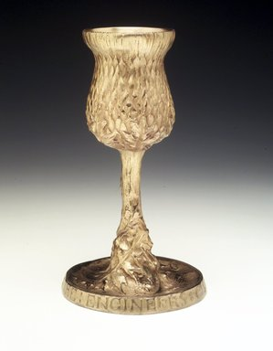 Tiffany & Company (American, founded 1853). <em>Chalice</em>, ca. 1907. Gilt bronze, 7 1/2 x 4 1/4 x 4 1/4 in. (19.1 x 10.8 x 10.8 cm). Brooklyn Museum, Bequest of Marie Bernice Bitzer, by exchange, 1992.8. Creative Commons-BY (Photo: Brooklyn Museum, 1992.8_transpc005.jpg)
