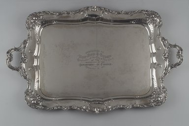 Gorham Manufacturing Company (1865-1961). <em>Tray</em>, ca. 1900. Silver, 2 1/4 x 32 1/4 x 20 3/4 in.  (5.7 x 81.9 x 52.7 cm). Brooklyn Museum, Gift of Mrs. William Bird Coler, 1992.90. Creative Commons-BY (Photo: Brooklyn Museum, 1992.90.jpg)