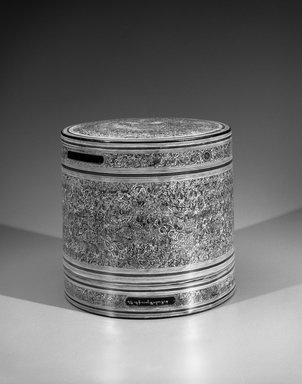 Pagan. <em>Kun It - Betel Box with Two Inner Trays</em>. Lacquer on woven bamboo, Height: 10 in. (25.4 cm). Brooklyn Museum, Gift of Dr. Bertram H. Schaffner, 1993.106.12a-d. Creative Commons-BY (Photo: Brooklyn Museum, 1993.106.12a-d_view1_bw.jpg)