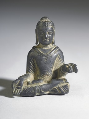<em>Gautama Buddha</em>, 8th century. Bronze, overall (with mount): 2 1/2 x 2 x 1 3/8 in. (6.4 x 5.1 x 3.5 cm). Brooklyn Museum, Gift of Dr. Bertram H. Schaffner, 1993.106.1. Creative Commons-BY (Photo: Brooklyn Museum, 1993.106.1_front_PS4.jpg)