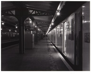 Irwin Silver (American, born 1945). <em>El Station, Bronx, N.Y., May 28, 1983, 1:30 A.M.</em>. Gelatin silver photograph on photographic paper Brooklyn Museum, Gift of Mr. and Mrs. Gilbert Millstein, 1993.13. © artist or artist's estate (Photo: , 1993.13_PS11.jpg)