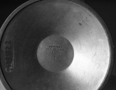 Reed & Barton (American, 1840-present). <em>Candelabra, One of Pair</em>, ca. 1928. Pewter, 5 3/4 x 7 x 4 3/8 in.  (14.6 x 17.8 x 11.1 cm). Brooklyn Museum, Gift of Jewel Stern, 1993.152.2. Creative Commons-BY (Photo: Brooklyn Museum, 1993.152.2_mark_bw.jpg)