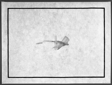 Richard Tuttle (American, born 1941). <em>[Untitled]</em>, 1993. Watercolor woodcut on Xuan Zhi paper, sheet: 12 x 16 in. (30.5 x 40.6 cm). Brooklyn Museum, Emily Winthrop Miles Fund, 1993.171.4. © artist or artist's estate (Photo: Brooklyn Museum, 1993.171.4_bw.jpg)