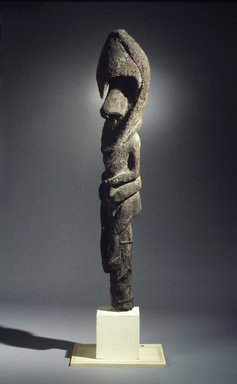 Ambrym. <em>Figure (Nenna)</em>, 20th century. Tree fern, clay, vegetal-fiber paste, pigment, 72 x 13 1/4 x 12 in. (182.9 x 33.7 x 30.5 cm). Brooklyn Museum, Gift of Alyce and Roger Rose, 1993.181.2. Creative Commons-BY (Photo: Brooklyn Museum, 1993.181.2_transpc004.jpg)