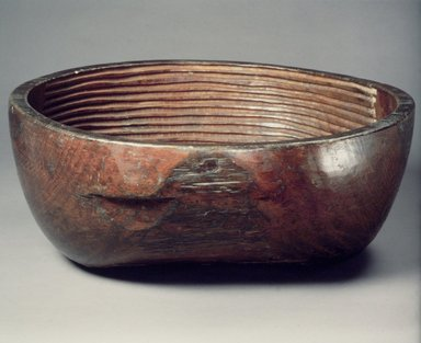 <em>Rice-Washing Bowl</em>, 19th century. Wood, Height: 6 11/16 in. (17 cm). Brooklyn Museum, Gift of Dr. and Mrs. John P. Lyden, 1993.194.11. Creative Commons-BY (Photo: Brooklyn Museum, 1993.194.11.jpg)