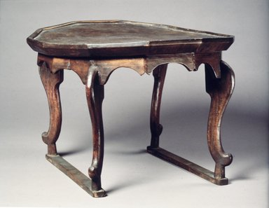 <em>Tray Table</em>, late 19th-early 20th century. Wood, 10 1/2 x 15 7/16 in. (26.6 x 39.2 cm). Brooklyn Museum, Gift of Dr. and Mrs. John P. Lyden, 1993.194.13. Creative Commons-BY (Photo: Brooklyn Museum, 1993.194.13.jpg)