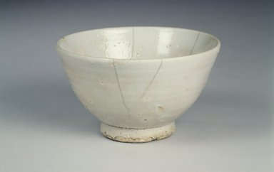 <em>Bowl</em>, 16th century (possibly). Porcelain, glaze, Height: 3 11/16 in. (9.3 cm). Brooklyn Museum, Gift of Dr. and Mrs. John P. Lyden, 1993.194.15. Creative Commons-BY (Photo: Brooklyn Museum, 1993.194.15.jpg)