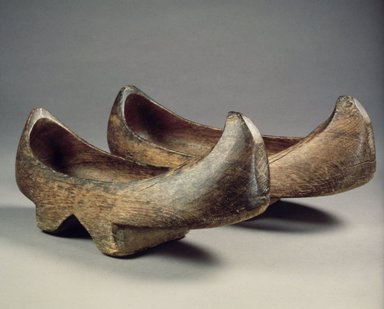 <em>Pair of Clogs (Namakshin)</em>, 19th century. Wood, 5 1/2 x 4 x 11 1/2 in. (14 x 10.2 x 29.2 cm). Brooklyn Museum, Gift of Dr. and Mrs. John P. Lyden, 1993.194.18a-b. Creative Commons-BY (Photo: Brooklyn Museum, 1993.194.18a-b.jpg)