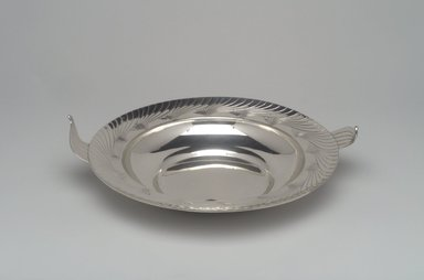 Alfred G. Kintz (American, 1885-1963). <em>Bowl, Northern Lights</em>, ca. 1928. Silver, 2 7/8 x 11 11/16 x 10 1/16 in. (7.3 x 29.7 x 25.6 cm). Brooklyn Museum, Gift of Daniel Morris and Denis Gallion, 1993.208.1. Creative Commons-BY (Photo: Brooklyn Museum, 1993.208.1.jpg)