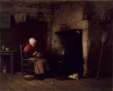 Platt Powell Ryder (American, 1821-1896). <em>Fireside Companion</em>, 1889. Oil on canvas, 17 x 21in. (43.2 x 53.3cm). Brooklyn Museum, Gift of Wakefield Dort, Jr., 1993.210 (Photo: Brooklyn Museum, 1993.210_PS1.jpg)