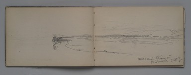 William Trost Richards (American, 1833-1905). <em>Sketchbook: Overland Trip to Washington Territory</em>, September 1885. Graphite on white paper, 5 1/16 x 7 5/8 in. Brooklyn Museum, Gift of Edith Ballinger Price, 1993.225.2 (Photo: Brooklyn Museum, 1993.225.2.jpg)
