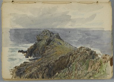 William Trost Richards (American, 1833-1905). <em>Sketchbook: English Coastal Scenery</em>, 1878. Graphite and some watercolor on beige, medium thick, smooth wove paper, Closed: 5 1/4 x 7 3/8 in. (13.3 x 18.7 cm). Brooklyn Museum, Gift of Edith Ballinger Price, 1993.225.7 (Photo: Brooklyn Museum, 1993.225.7_PS2.jpg)