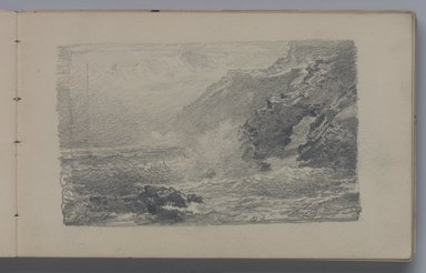 William Trost Richards (American, 1833-1905). <em>Sketchbook: Marines</em>. Graphite on white paper, 4 3/4 x 7 1/2 in. (92 pages). Brooklyn Museum, Gift of Edith Ballinger Price, 1993.225.8 (Photo: Brooklyn Museum, 1993.225.8.jpg)