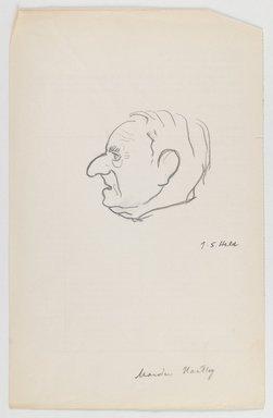 Julius S. Held (American, born Germany, 1905-2002). <em>Marsden Hartley</em>, n.d. Graphite on paper, sheet: 9 1/4 x 5 15/16 in. (23.5 x 15.1 cm). Brooklyn Museum, Bequest of Edith and Milton Lowenthal, 1993.43. © artist or artist's estate (Photo: Brooklyn Museum, 1993.43_IMLS_PS3.jpg)