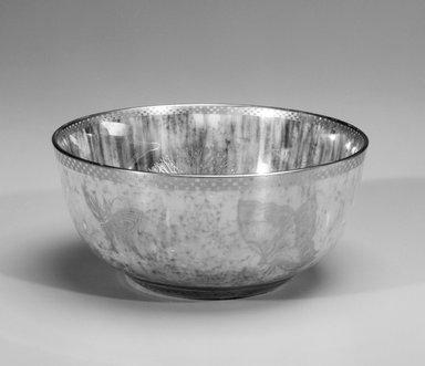 Daisy Makeig-Jones (English, 1881-1945). <em>Bowl</em>, ca. 1915-1931. Luster glazed porcelain, 2 3/4 x 6 3/8 in. (7 x 16.2 cm). Brooklyn Museum, Gift of Selma H. Rutenburg, 1993.75.2. Creative Commons-BY (Photo: Brooklyn Museum, 1993.75.2_bw.jpg)