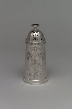 George Washington Maher (American, 1864-1926). <em>Pepper Caster</em>, ca. 1912. Silver, 4 1/4 x 1 7/8 x 1 7/8 in. (10.8 x 4.8 x 4.8 cm). Brooklyn Museum, Marie Bernice Bitzer Fund, 1993.78.2. Creative Commons-BY (Photo: Brooklyn Museum, 1993.78.2a-b.jpg)