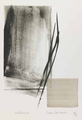 Toko Shinoda (Japanese, 1913-2021). <em>Nocturne</em>, 1990. Woodblock print, lithograph, 15 x 11 in. Brooklyn Museum, Gift of Susan L. Beningson, 1994.10.1. © artist or artist's estate (Photo: Brooklyn Museum, 1994.10.1_IMLS_PS3.jpg)