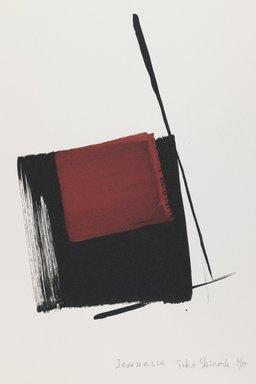 Toko Shinoda (Japanese, 1913-2021). <em>Jeunesse</em>, 1993. Woodblock print, lithograph, 14 7/8 x 11 1/8 in. Brooklyn Museum, Gift of Susan L. Beningson, 1994.10.2. © artist or artist's estate (Photo: Brooklyn Museum, 1994.10.2_IMLS_PS3.jpg)