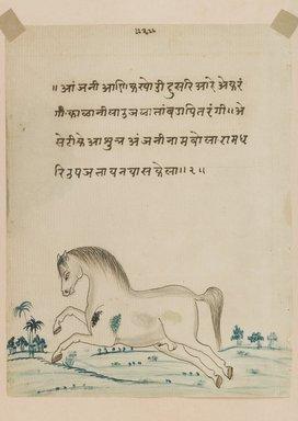 <em>Horse</em>, 19th century. Opaque watercolor on paper, 8 1/4 x 6 1/2 in. Brooklyn Museum, Gift of Dr. Bertram H. Schaffner, 1994.11.7 (Photo: Brooklyn Museum, 1994.11.7_IMLS_PS4.jpg)