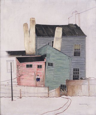 Miklos Suba (American, born Hungary, 1880-1944). <em>Williamsburg</em>, 1941. Oil on canvas, 24 1/4 x 20 1/4 in.  (61.6 x 51.4 cm). Brooklyn Museum, Gift of Mrs. Bertram Bloch in memory of May Edwards Suba, 1994.122 (Photo: Brooklyn Museum, 1994.122_transp555.jpg)