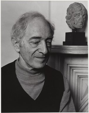 Arthur Mones (American, 1919-1998). <em>Meyer Schapiro</em>, 1980. Gelatin silver photograph, 13 1/2 x 10 1/2in. (34.3 x 26.7cm). Brooklyn Museum, Gift of the artist, 1994.138. © artist or artist's estate (Photo: Brooklyn Museum, 1994.138_PS9.jpg)