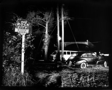 Thomas Tulis (American, born 1961). <em>See Rock City/Car</em>, 1991. Cibachrome print, 20 x 24 in. Brooklyn Museum, Gift of the artist, 1994.140. © artist or artist's estate (Photo: Brooklyn Museum, 1994.140_bw.jpg)